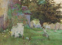 flowers in a graveyard by george marks