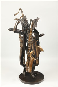 heracles au saxophone by arman