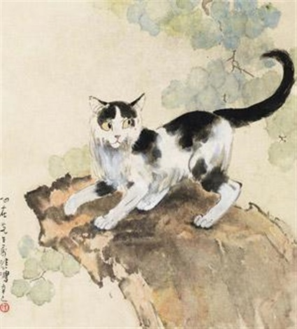 猫 by xu beihong