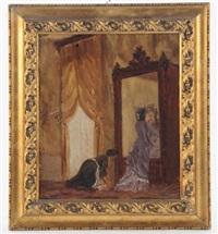 donna allo specchio by antonio varni