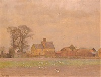 evening before snow, suffolk by allan gwynne-jones