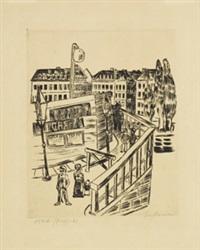 holzbrücke by max beckmann