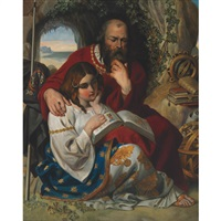 prospero and miranda by daniel maclise