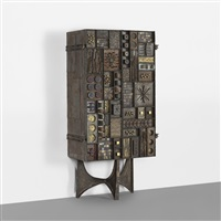 important welded front cabinet by paul evans