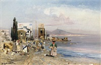 fisherfolk on the neapolitan coast by robert alott