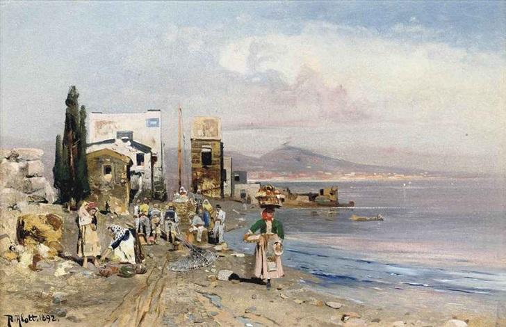 fisherfolk on the neapolitan coast by robert alott
