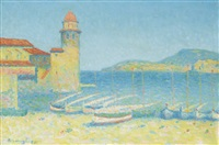 le port de collioure by achille laugé