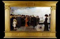 in commemoration of the opening of seaham dock by the right honourable a.j. balfour, november 1905 by john henry frederick bacon