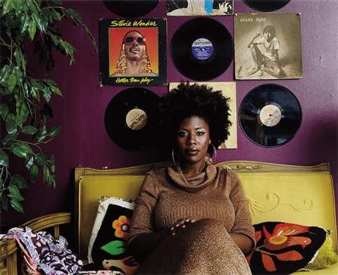 afro goddess lovers friend by mickalene thomas