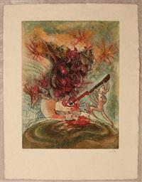 hommere ii (l'eautre) (cartella di dieci) by roberto matta