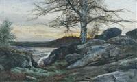 la forêt de fontainebleau by auguste allongé