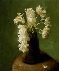 still-life with white peonies by marie heineken