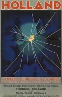 Kunstkarte// Postcard Cover Holland Oost Azie Lijn Jan Lavies