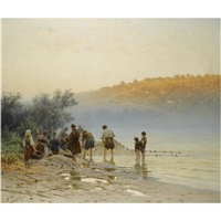 early morning fishing by nikolai alexandrovich sergeev