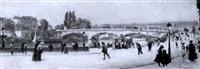 vue de ville by léon jules lemaitre