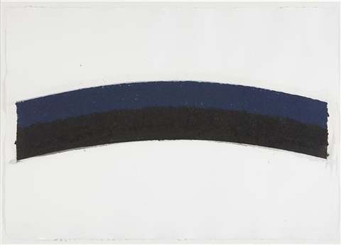 colored paper image iii blue black curves by ellsworth kelly