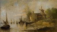 bord de rivière by joseph jodocus moerenhout