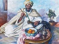 vieil homme à la pipe, maroc by louis john endres