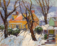 artist's studio, lumberville by fern isabel coppedge