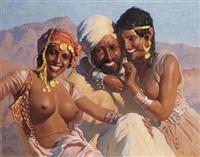 trois jeunes gens sous le soleil du maroc by adam styka