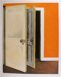 open door (from the brooklyn college women's portfolio) by lois dodd