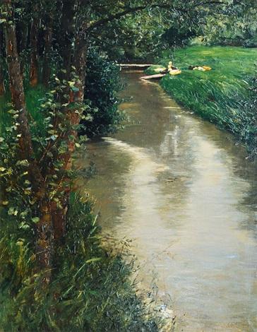 ducks by a creek by alexander max koester