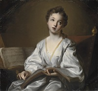 saint cecilia by jean-baptiste santerre