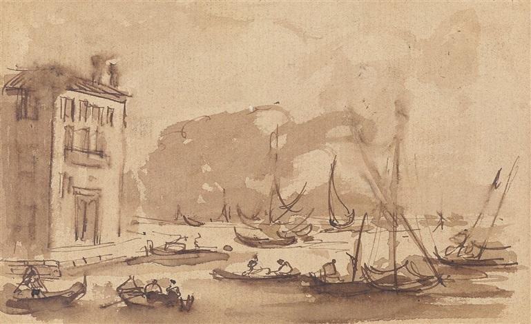 konvolut von dreizehn skizzenblättern veduten aus venedig architekturcapricci figurenstudien by francesco guardi