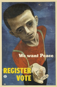 we want peace/register - vote by ben shahn