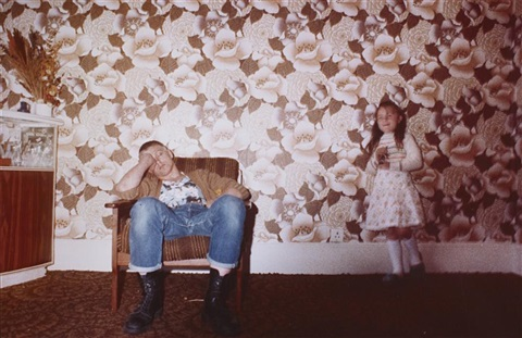 skinhead with child london by nan goldin