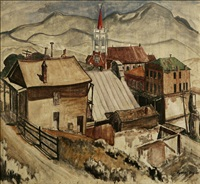 street scene virginia city, nevada by robert clunie