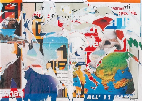 omaggio allitalia by mimmo rotella
