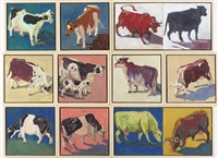 cows (10 works) by lucy culliton