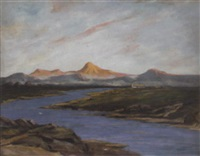 dawn, ben vorlich from strathearn by william renison