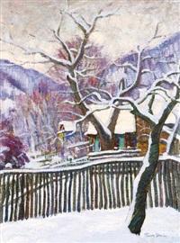 winter at nagybánya by géza kádár