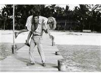 yves montand et catherine deneuve dans le sauvage, bahamas by daniel simon