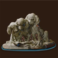 trois chiots by georges lucien vacossin