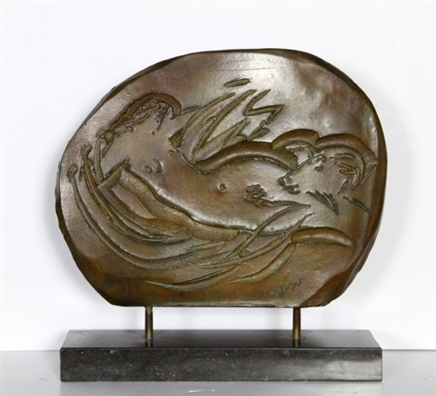 nymph and goat plaque by reuben nakian