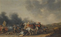 a cavalry skirmish by palamedes palamedesz the elder