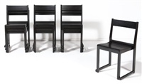 suite de dix chaises empilables (set of 10) by sven markelius