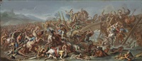 the battle at the milvian bridge by charles le brun