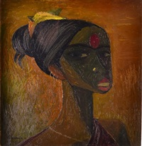 village woman, south india by harry baines