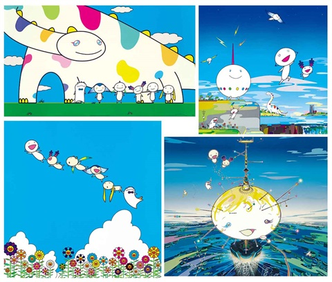 66號行星系列 planet 66 set of 4 by takashi murakami