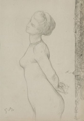 nu study by gustave clarence rodolphe boulanger