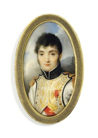 jérôme bonaparte (1784-1860), king of westphalia, in blue-piped white uniform of the westphalian infantry, with gold-embroidered facings by louis françois aubry