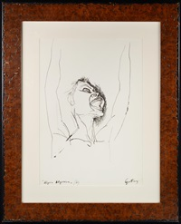 a figurativ sketch (joy) by renato guttuso