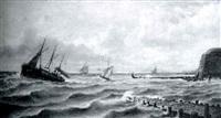 barcas entrando en el puerto by eugene jacques hubert wolters