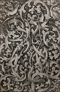 ornament mit distelmotiven - gotisches distelblatt by daniel hopfer