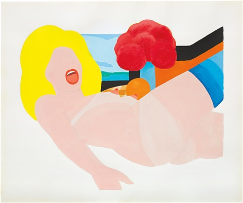 study for great american nude 90 by tom wesselmann