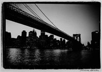 brooklyn bridge au crepuscule by michel ginies